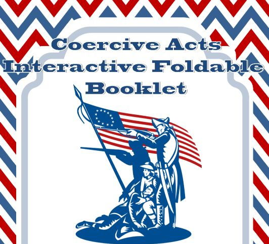 Coercive Acts Interactive Foldable Booklet
