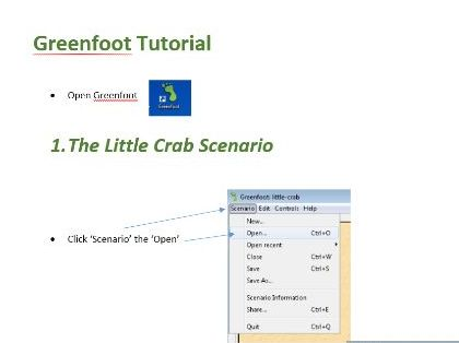 Greenfoot crab tutorial