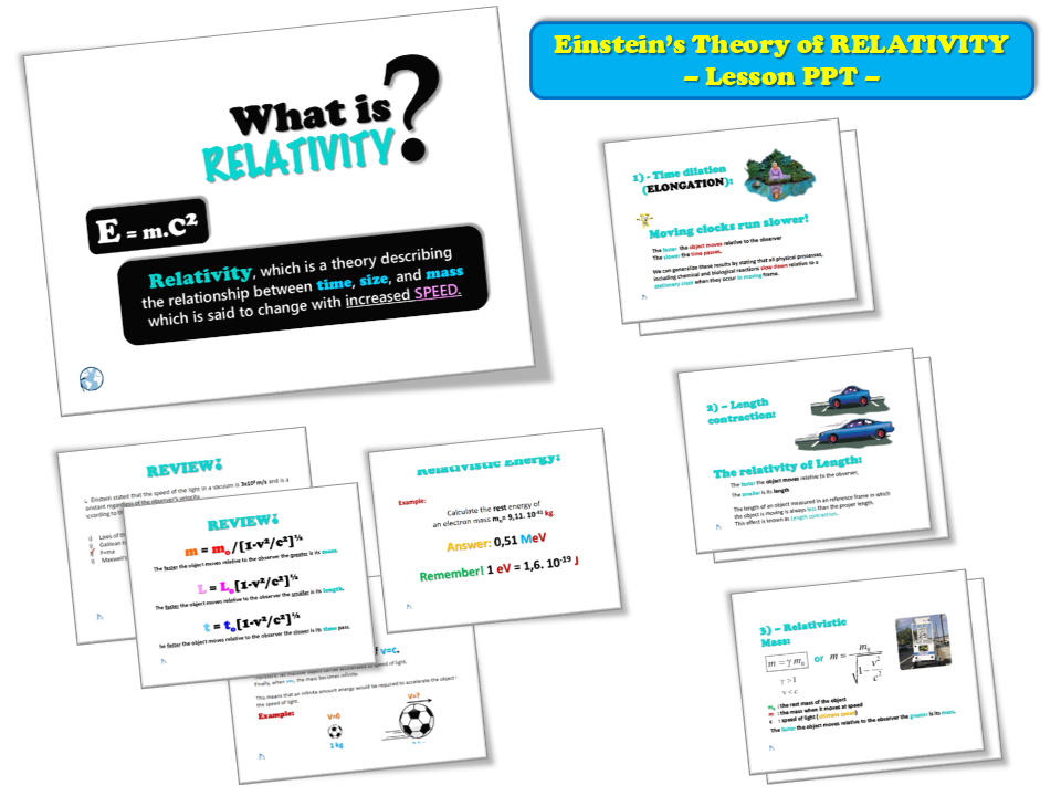 Einstein's Theory of RELATIVITY – Lesson Presentation (PPT)