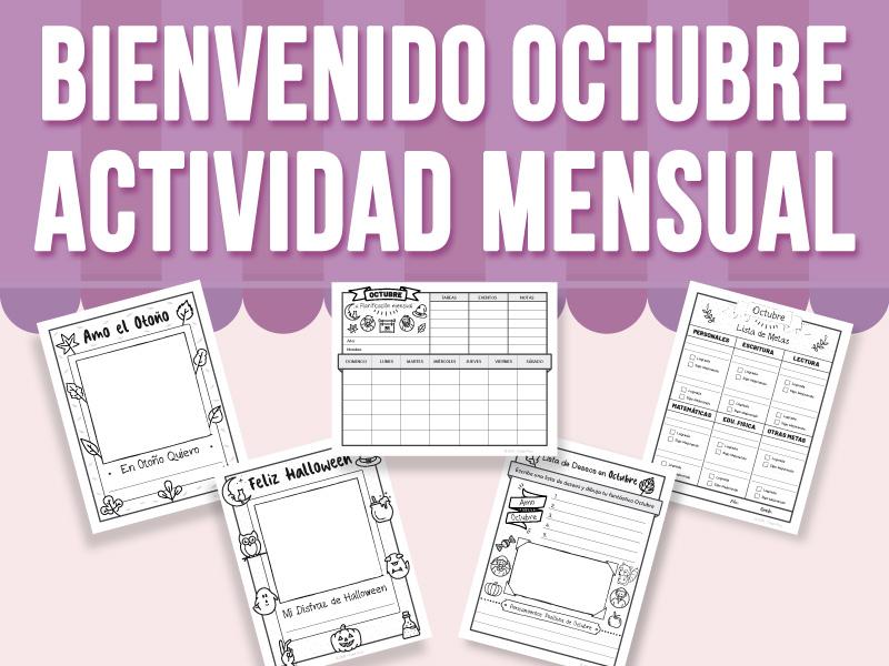 Bienvenido Octubre - Actividad Mensual - SPANISH VERSION