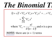 Edexcel A level Mathematics chapter 8 The Binomial Expansion