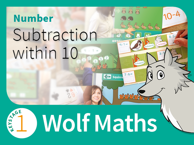 KS1 Number - Subtraction within 10 - Wolf Maths 4 (Games Pack)