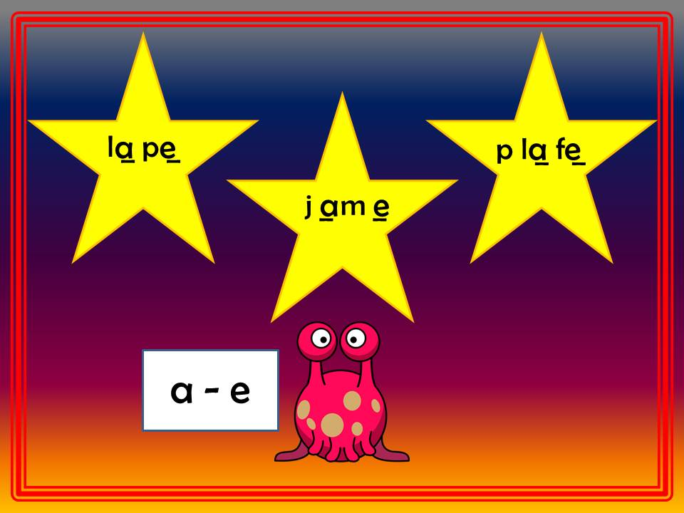 Phonics Revision of Split Digraphs