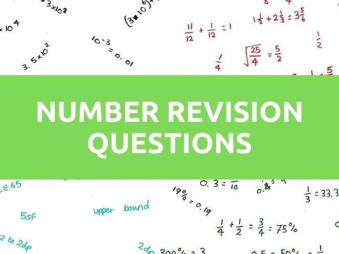 GCSE Maths Number Questions