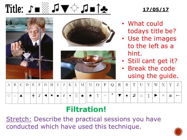 Filtration - complete lesson (KS3)
