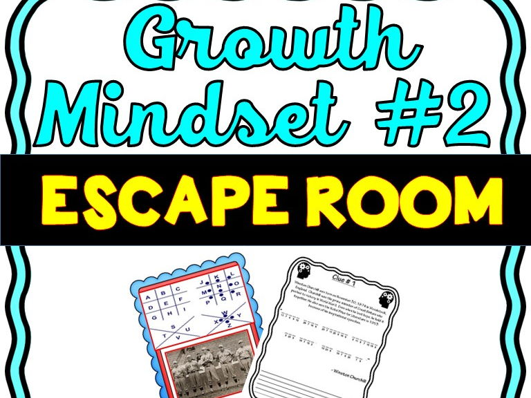 Growth Mindset Escape Room #2 - No Prep!