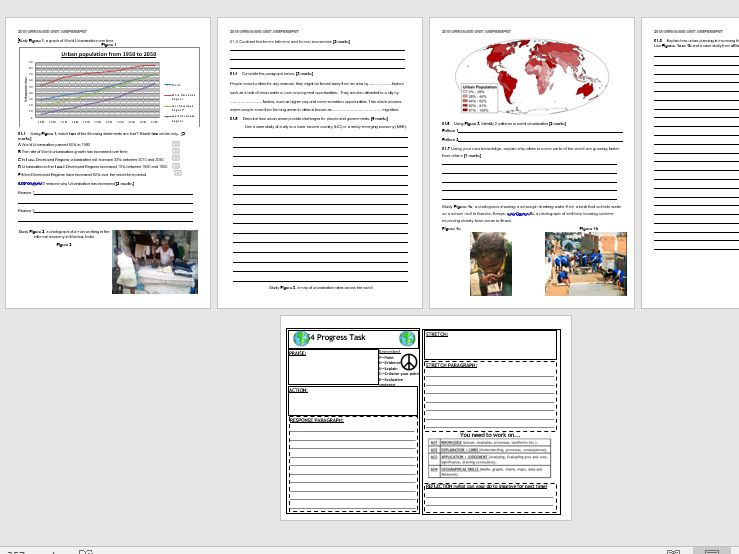 AQA URBAN CASE STUDY: Rio Assessment (Lesson and Resources).