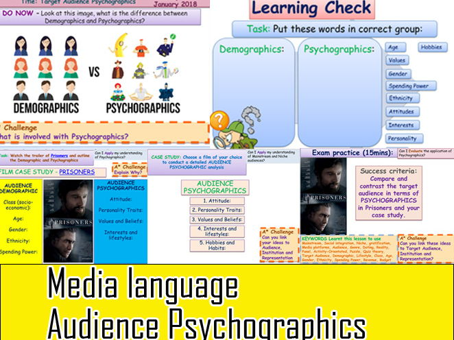 Media Language Target Audience Psychographics