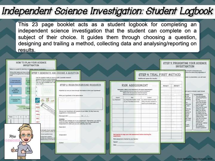 Independent Science Investigation Logbook