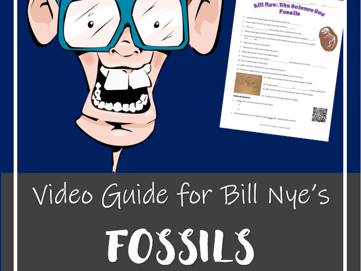 Bill Nye the Science Guy - FOSSILS (Video worksheet)
