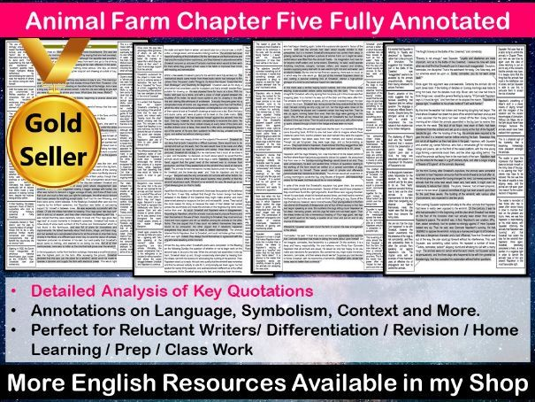 Animal Farm Chapter 5 Fully Annotated