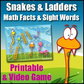 image about Printable Math Board Games known as Snakes Ladders (Free of charge) - Printable Math, Literacy Smartboard Model