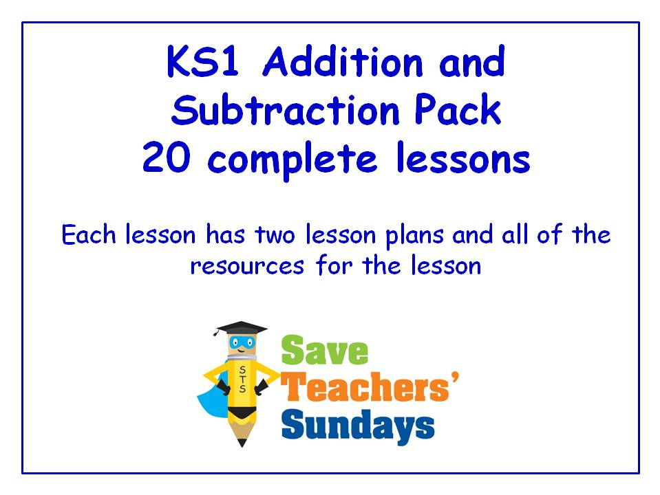 Ks1 Addition And Subtraction Lessons Bundle Pack 20 Lessons By