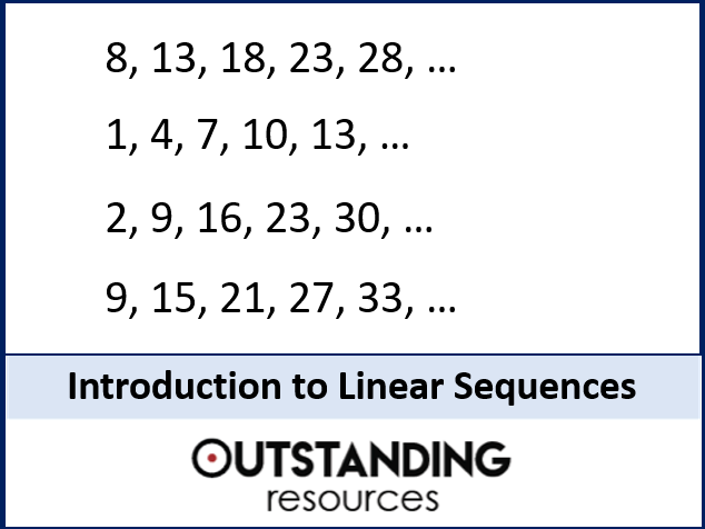 Sequences 1 - Introduction to Linear Sequences (+ worksheet)