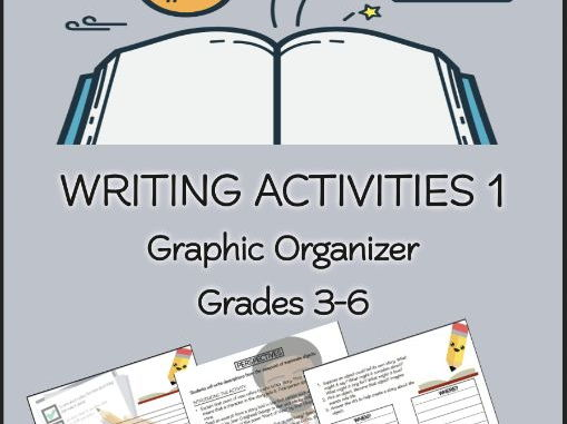 WRITING ACTIVITIES Lesson Plans 1 Graphic Organizer Grades 3-6