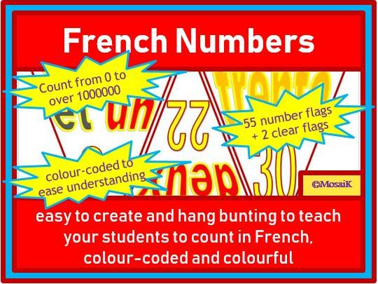 French Bunting: Numbers 0 to over 1 million