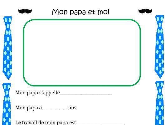 Joyeuse Fête des Pères! (Happy Father's Day) Distance Learning Worksheet