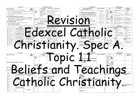 Edexcel Catholic Christianity Beliefs and Teachings A3 Revision