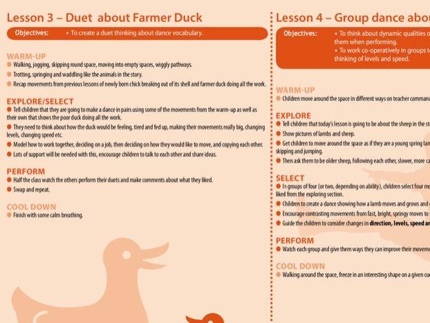 Year 1 Dance Unit of Work - Farmer Duck