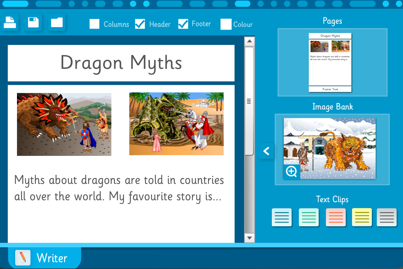 Make Your Own Information Poster: Dragon Myths - Interactive Activity - KS2 Literacy