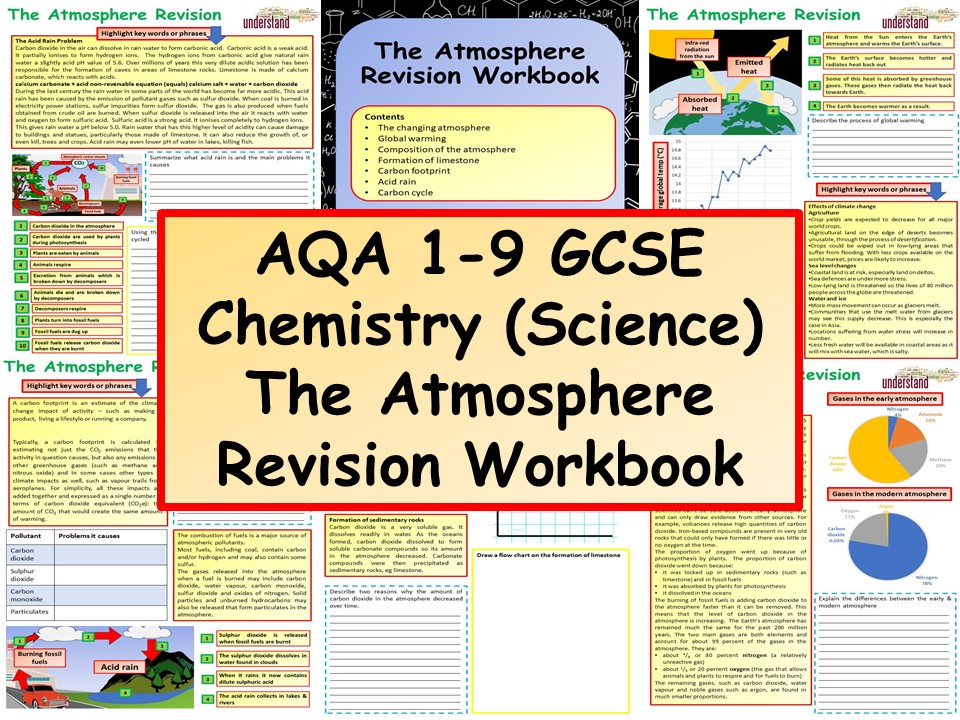 AQA 1-9 GCSE Chemistry (Science) The Atmosphere Revision Workbook