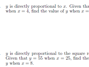 Direct  proportion worksheet (with solutions)