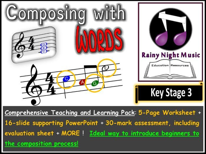 Composition for Beginners Composing Project Year 7