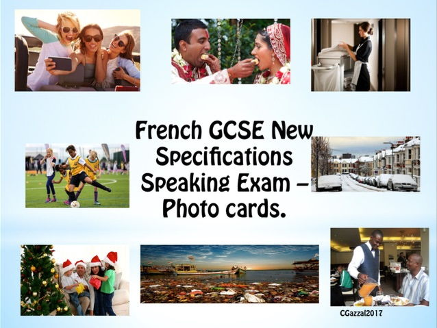 New Specifications French GCSE Speaking Exam Photo Cards