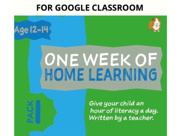 Digital Distance Learning Resource For Google Classroom: Pack 1 (12-14 years)