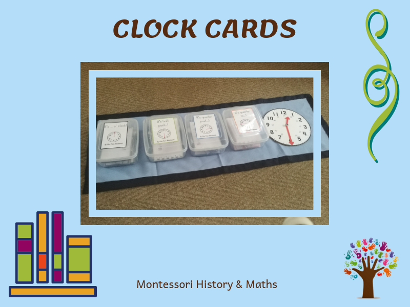 Learn to Tell Time! Montessori Clock Cards