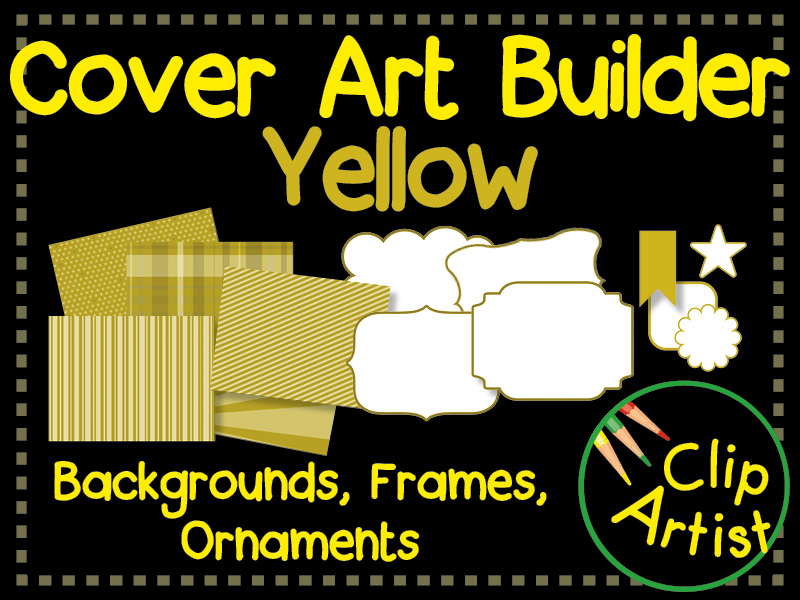 Cover Builder for Authors and Presentations - Yellow