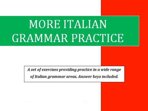 More Italian Grammar Practice