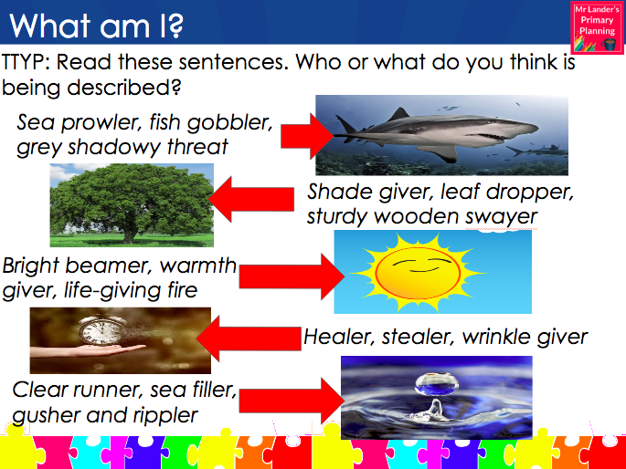 Y3/4 Water-Inspired Poetry: Kennings