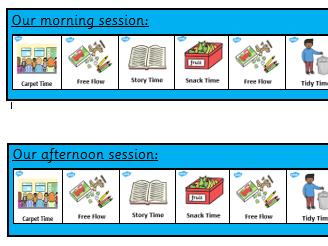 Nursery Visual Timetable