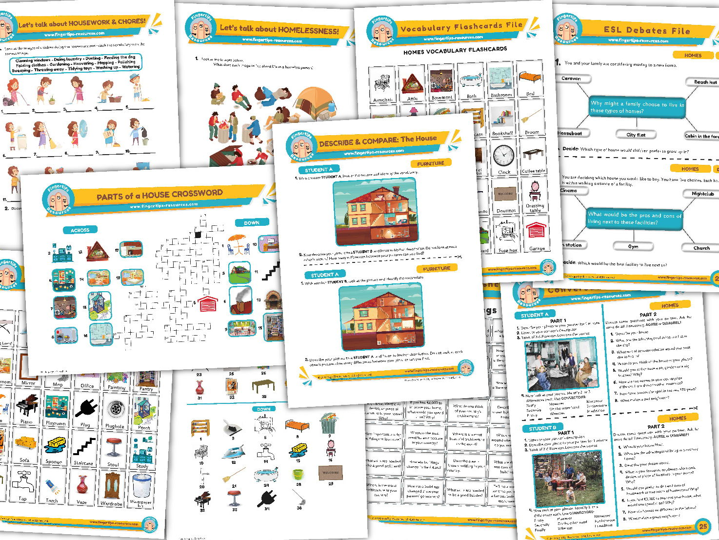 Homes Unit - ESL Activity Bundle