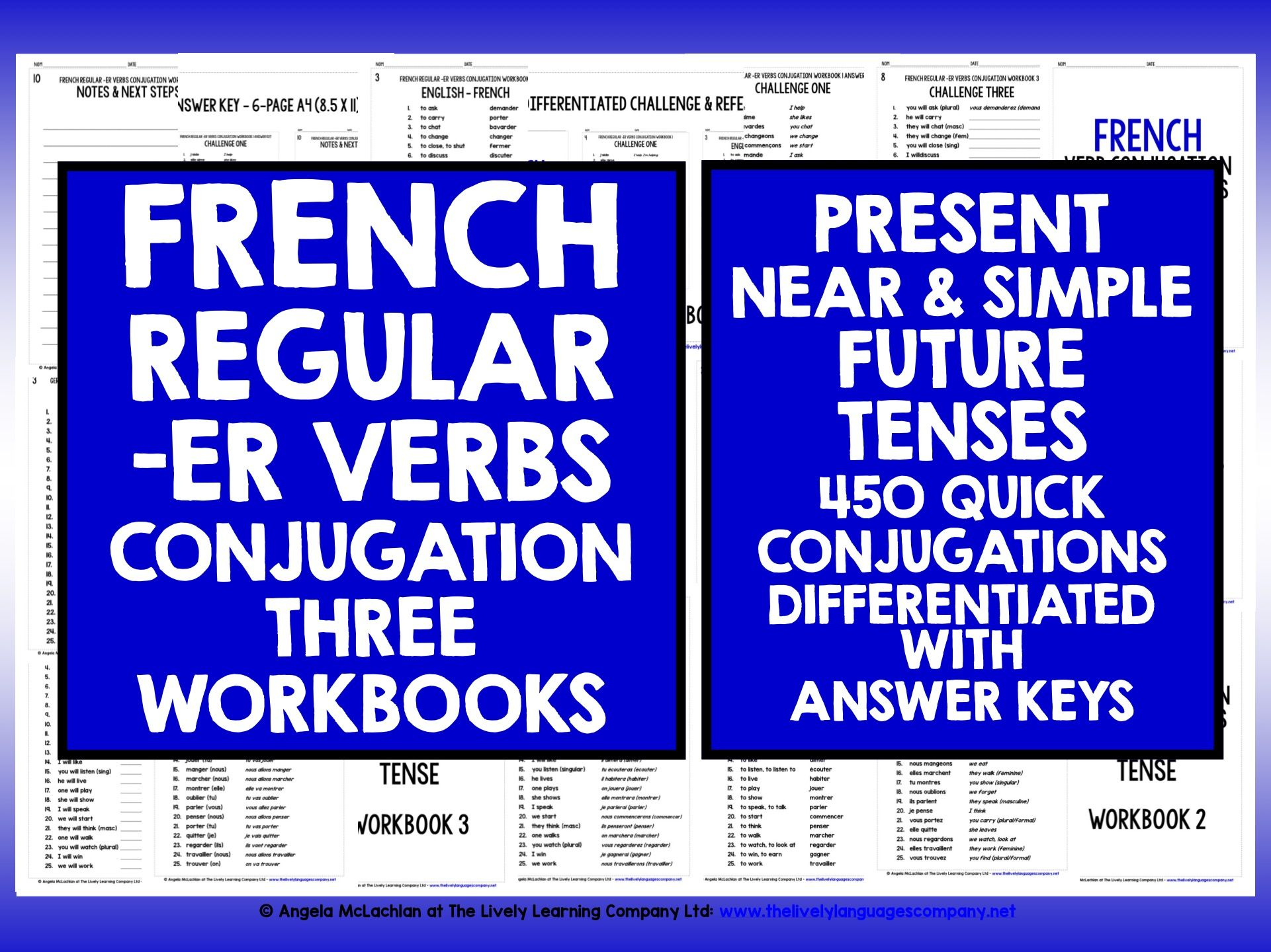 FRENCH -ER VERBS REVISION PRESENT, NEAR & SIMPLE FUTURE TENSE