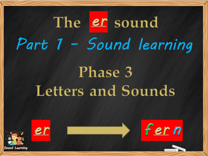 Teach the ER digraph, phonics, reading, spelling and writing.