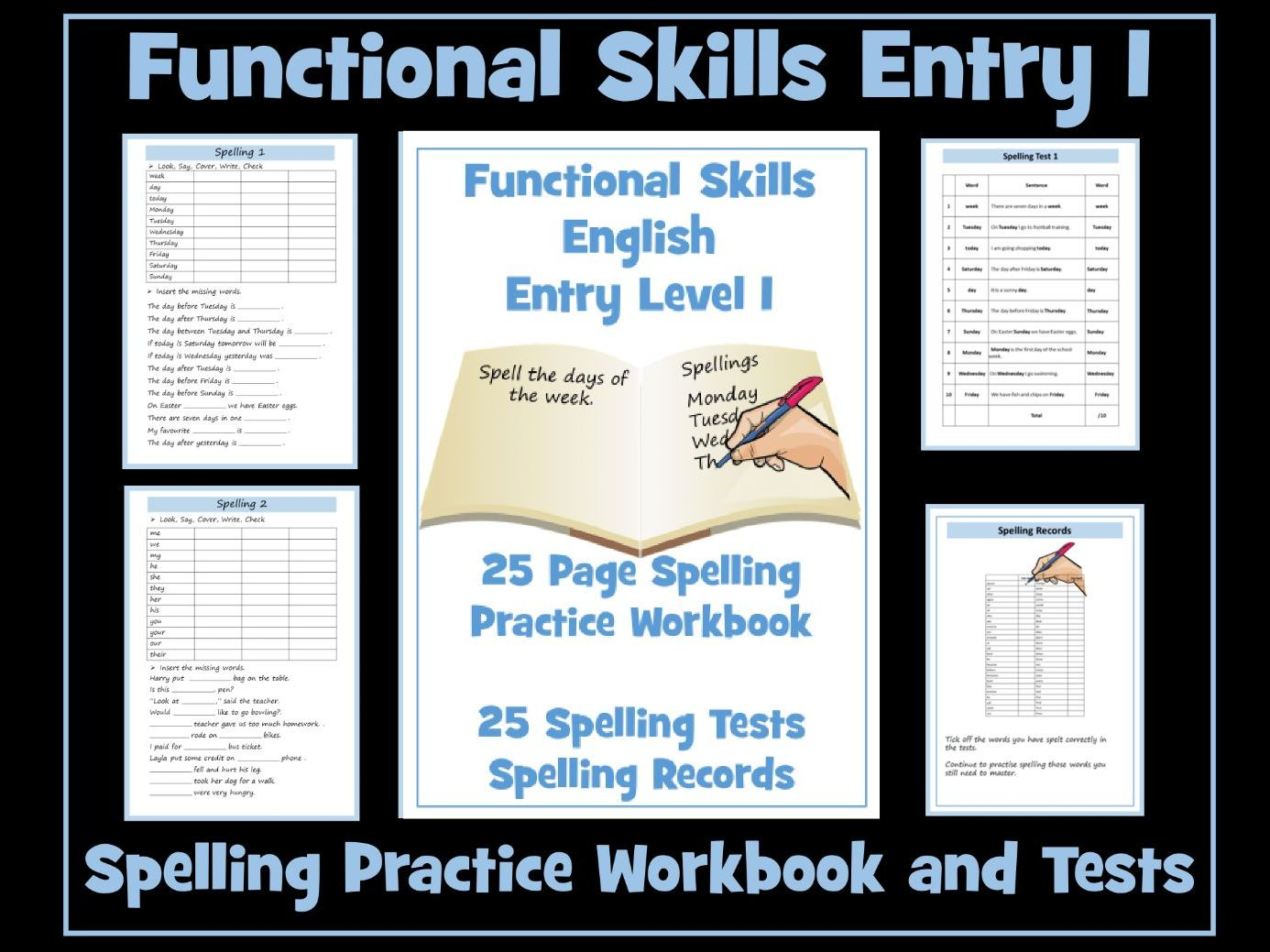 English Functional Skills - Entry Level 1 Spelling
