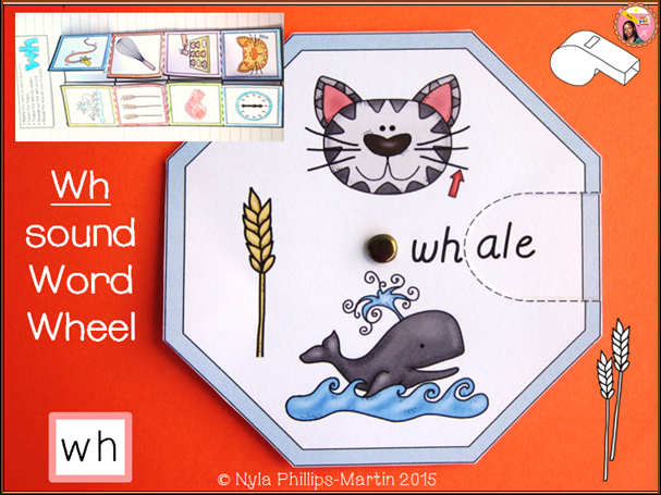 Phonics WH Word Wheel and Foldable Worksheet