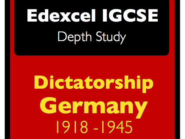 Edexcel IGCSE History: Germany 1918-45 - exam style questions