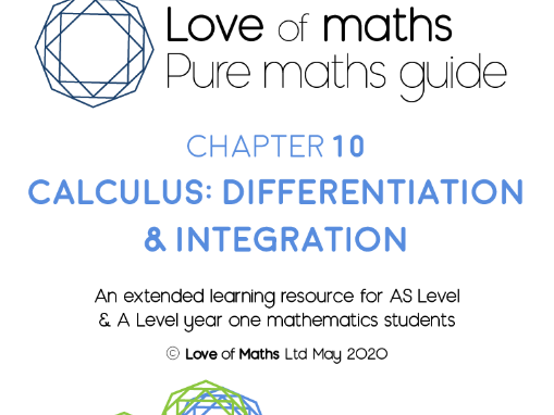 Pure Maths Guide Calculus (Differentiation & Integration) chapter from Love of Maths