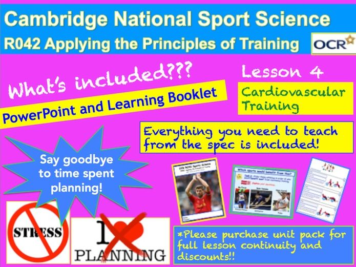 Cambridge National Sports Science R042: Cardiovascular Training