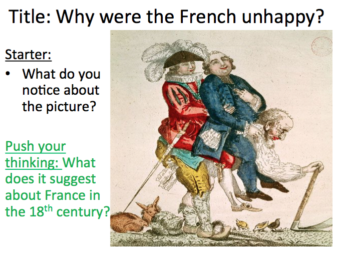 French Revolution - Lesson 1 'why were the French unhappy?' - please review if you download
