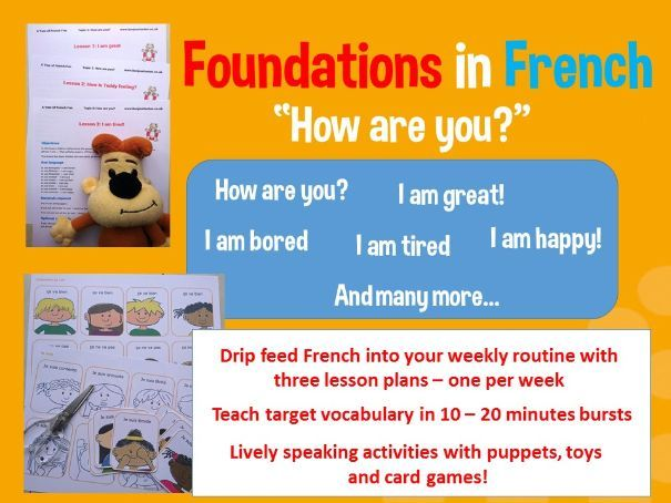 Comment ca va? How are you? in French - 3 lesson plan bundle