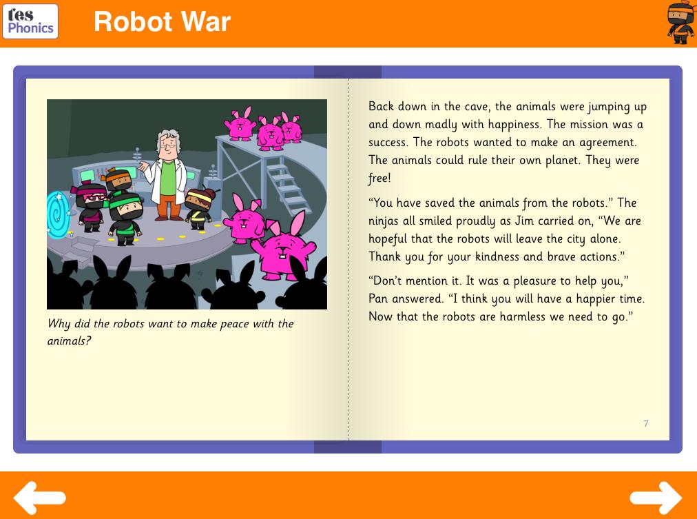 Robot War Reading Book - Phase 5