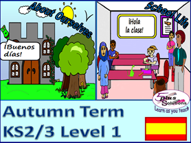 PRIMARY SPANISH 13 LESSON  AUTUMN BUNDLE (KS2/3)