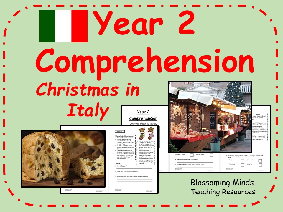 Year 2 non-fiction comprehension - Christmas in Italy