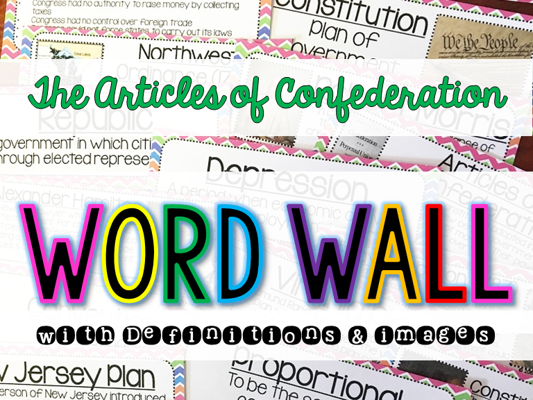 Articles of Confederation Word Wall