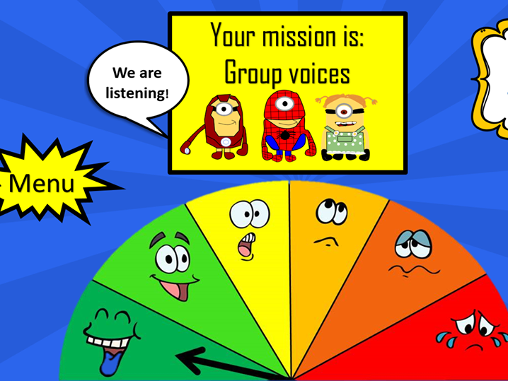 Minion themed classroom noise monitor