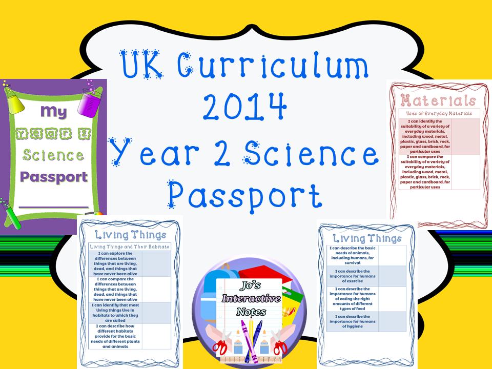 Year 2 National Curriculum Science Passport